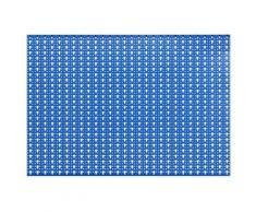 Outifrance - 5 crochets pour panneau mural (nylon - coudé 45 mm) - Rangement de l'atelier