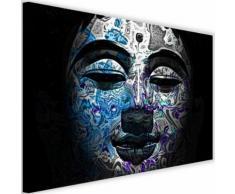 Tableau Toile Cadre Image déco moderne Canevas Bouddha Visage peint 2 90x60 - Décoration murale