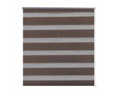 Store enrouleur marron tamisant 140 x 175 cm fenêtre rideau pare-vue volet roulant - Fenêtres et volets