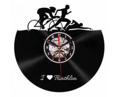 Style de Creative Non-Coutil Silencieux Antique Caoutchouc Horloge Murale Pour La Maison Cuisine Noir PL703 - Décoration murale
