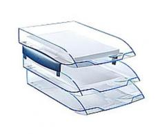 Lot de 2 Jeu de 2 réhausses pour corbeille à courrier ICE BLUE - Corbeille, bac à courrier, poubelle