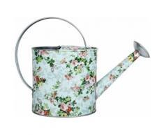Esschert Design - Arrosoir en acier galvanisé Roses 1,95 litres - Matériel d'arrosage