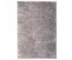Homgeek Tapis à poils Longs pour Chambre ou Salon 140 x 200 cm Gris - Textile séjour