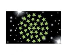 Lot de 3 planches de 34 étoiles luminescentes à fixer au plafond - Autres jouets en bois