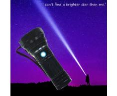 SST40G2 Glare rechargeable Super Bright lampe de poche Set 2000lm lumière extérieure Kiliaadk276 - Torches