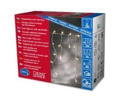 KONSTSMIDE 3701-003 MICROLIGHT RIDEAU FRISE LUMINEUSE 100 LAMPES CLAIRES + CÂBLE TRANSPARENT 24 V - Appliques et spots