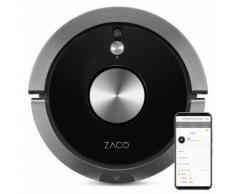 Robot aspirateur laveur A9s noir- ZACO -fonction serpillère pour sols durs - Aspirateur robot