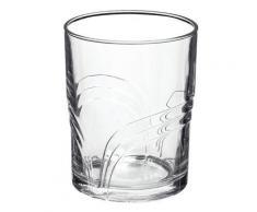 Verre à eau en verre trempé motifs arcs transparent 27.8cl - Set de 6 ARCO - Verrerie