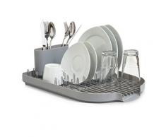 Zeller 24890 égouttoir en plastique gris 45 x 32 x 13 cm - Ustensile de cuisine