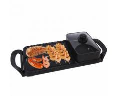 2 en 1 Barbecue électrique poêle Grill Teppanyaki Cook Fry BBQ Four Hot Pot 220V - Autres