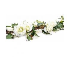 Guirlande de roses blanches 155cm - Plantes artificielles