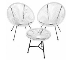 TecTake Ensemble table et chaises de jardin GABRIELLA - blanc - Mobilier de Jardin