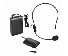 ammoon Microphone Sans fil Système de Casque Amplificateur de Voix 1 / 4in Prise de Sortie avec émetteur d'émetteur Bodypack pour Enseignant Enseignant Instructeur de Yoga Présentateur Conférencier - Microphone
