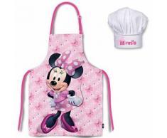 Tablier Enfant Rose + Chapeau de Chef Minnie, Disney Minnie pour enfant, Tablier de Cuisine pour Enfants Tabliers pour Enfants,Tablier Enfant Fille, Minnie la souris, Disney - Linge de table