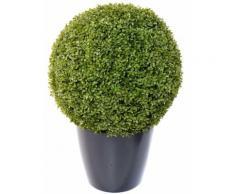 Plante artificielle haute gamme Spécial extérieur / Buis boule artificiel - Dim : H.58 x D.58 cm - Plantes artificielles