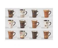 Table Passion - Tasse Cafe 10 Cl Collector Ass. (Lot De 6) - Tasse et Mugs