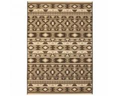 Homgeek Tapis d'extérieur/d'intérieur Style Sisal pour Salon, Balcon, Jardin 140 x 200 cm Design ethnique - Textile séjour