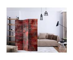 135x172 Paravent 3 volets Paravents 3 volets Moderne Red Metal [Room Dividers] - Objet à poser