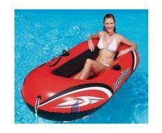 bateau gonflable canot pneumatique 2 places pour plage mer ou piscine 197x115cm - Bateau pneumatique