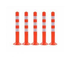 Borne de contrôle du trafic 5 pcs Plastique 75 cm alsa - Équipement et matériel de sécurité