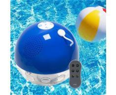 Lampe boule lumineuse flottante étanche enceinte piscine Bluetooth - Enceinte d'exterieur