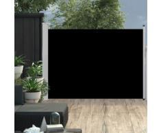 Auvent latéral rétractable de patio 120x500 cm Noir - Matériel de construction toiture