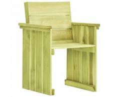 vidaXL Chaise de jardin Bois de pin imprégné - Mobilier de Jardin