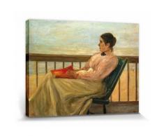 Max Liebermann Poster Reproduction Sur Toile, Tendue Sur Châssis - Martha Liebermann, La Femme De l'Artiste À La Plage, 1895 (30x40 cm) - Décoration murale