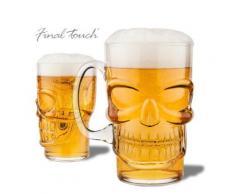 Verre à bière en forme de crâne - Verrerie