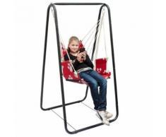 Balançoire complète: chaise + châssis en métal Pour les enfants et les adultes Avec accoudoirs e - Mobilier de Jardin