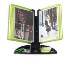 Pupitre Flashy Black Line 10 poches A4 vert - Dimensions L49 x H43,5 x P25 cm - Autres accessoires de bureau