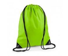 Sac à dos à bretelles - gym - linge sale - chaussures - BG10 - vert citron - Sac à dos bandoullière