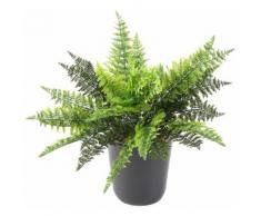 Plante artificielle haute gamme Spécial extérieur / Fougère artificielle à piquet - Dim : 40 x 40 cm -PEGANE- - Plantes artificielles