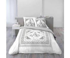 so parure 3 p. 200 x 200 cm imprime 42 fils dessin place augustine - Linge de lit