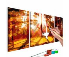 80x50 Tableau à peindre par soi-même Kits de peinture pour adultes Inedit même - Décoration murale