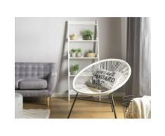Beliani - Chaise de jardin blanche Acapulco - Mobilier de Jardin