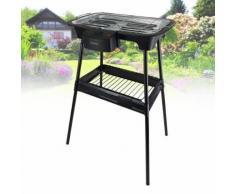 Barbecue électrique sur pieds ou sur Table - Triomph ETF1526 - 2000W - intérieur et extérieur - Cuisiner en extérieur
