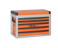 Coffre à 5 tiroirs orange c23s beta 023000501 - Rangement de l'atelier