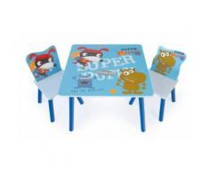 Ensemble table et chaise enfant multicolore -PEGANE- - Table et chaise