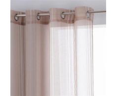 Voilage Lisa - 140 x 240 cm - Couleur lin - Rideaux et stores