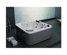 Beliani - Whirlpool - spa 6 places - acrylique haute qualité argent - Sanremo - Jacuzzi et sauna