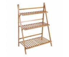 Escalier Etagère Meuble Etagère pour plantes en bois - couleur bois - Jardinières et bacs