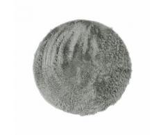 neo yoga tapis de salon ou chambre - microfibre extra doux - ø 120 cm - gris clair - Tapis et paillasson