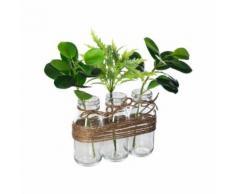 Lot de 3 Plantes Artificielles Zao 25cm Vert - Plantes artificielles