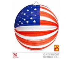 Lampion Globe USA ignifugé (25 cm) - Article de fête