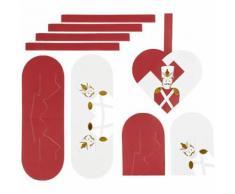 Vivi Gade jeu de construction coeurs tressés casse-noix rouge/blanc 8 pièces - Autres Jeux créatifs