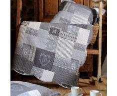 Set couvre lit boutis Arkansas et 2 taies taille 220 x 240 cm - Linge de lit