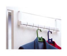 Rayen patere p/porte 6 crochets blanc 6181 - Range couverts