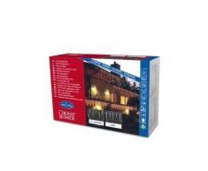 KONSTSMIDE 2746-102 RIDEAU LUMINEUX 16 STALACTITES + 24 LED CHAUD + CÂBLE BLANC 24 V - Appliques et spots