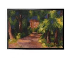 August Macke Paillasson Essuie-Pieds - Maison Rouge Dans Un Parc, 1914 (70x50 cm) - Tapis et paillasson